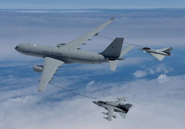 AIR FSTA A330 Typhoon Tornado AirTanker lg 600x420 - Reino Unido alcança marca de 8.000 surtidas contra o Estado Islâmico