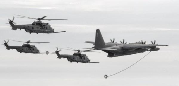 24955393 1947330398840511 7960184663593974227 o 600x288 - IMAGENS: Helicópteros H225M franceses qualificados para REVO com Hercules