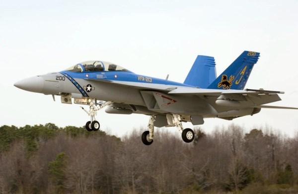 VFA 213 BlackLions Super Hornet 600x391 - Acidente com Super Hornet da Marinha dos EUA