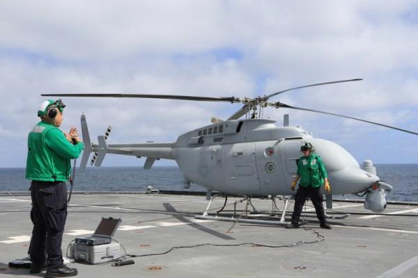 194559 1 600x400 - IMAGENS: Helicóptero não tripulado MQ-8C Fire Scout completa testes operacionais iniciais