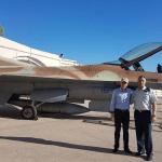 Ministro da Defesa da Croácia visita base israelense para ver os F-16s que deve comprar