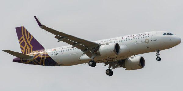 VT TNB Vistara Airbus A320neo VOBL DSC 3751 1920px WM 1050x525 600x300 - Companhia indiana Vistara encomenda 19 aeronaves Airbus e Boeing avaliadas em US$ 3,1 bi
