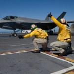 EUA: Caças F-35C conduzem testes operacionais a bordo do USS Abraham Lincoln