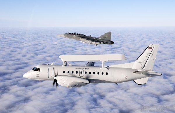 Thai Gripen Saab Erieye1 600x387 - Saab atualizará o sistema de comando e controle aéreo da Tailândia