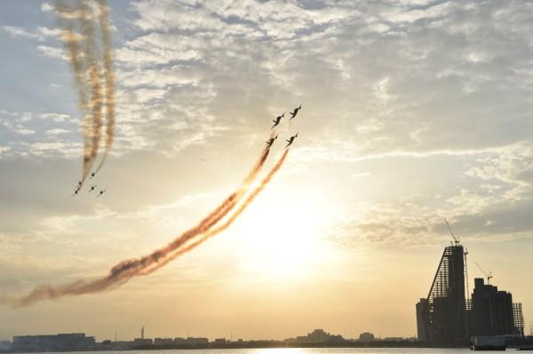 20181110 DohaAirShow FrecceTricolori1 600x399 - IMAGENS: Força Aérea Italiana conclui turnê de demonstrações pelo Oriente Médio