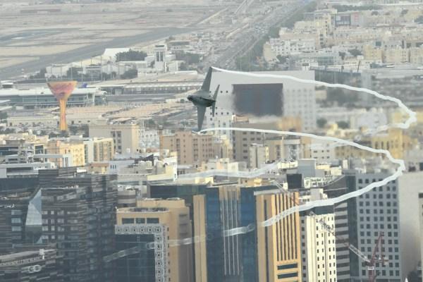 20181111 DohaAirShow T346A RepartoSperimentaleVolo5 600x400 - IMAGENS: Força Aérea Italiana conclui turnê de demonstrações pelo Oriente Médio