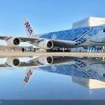 Primeiro A380 da ANA é apresentado com pintura exclusiva