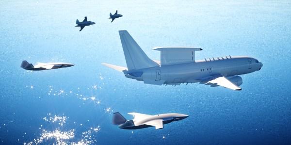 """Boeing ATS with AEWC1 600x300 - Boeing apresenta na Austrália seu novo sistema conceito não tripulado de combate """"Loyal Wingman"""""""