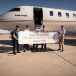 Bombardier Global 7500 conclui o voo de maior alcance do mundo na aviação executiva