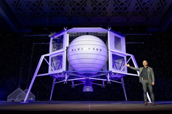 blueorigin bluemoon lander reveal 600x400 - VIDEO: Blue Origin revela sua nova sonda lunar Blue Moon