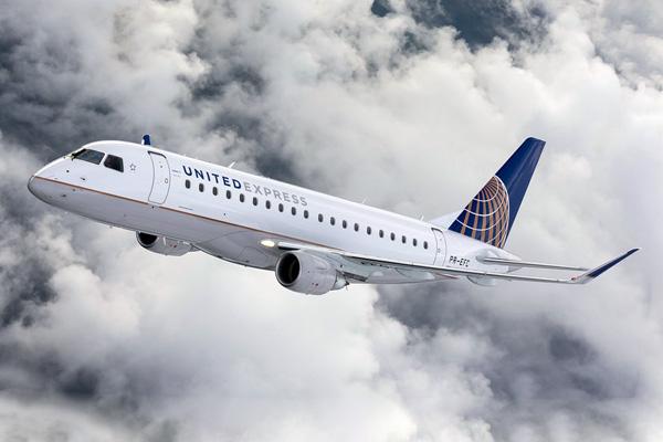 united express erj 175 pr efc co 91fltembraer unitedlrw 600x400 - PARIS AIR SHOW: Embraer e United Airlines assinam contrato para até 39 E175s