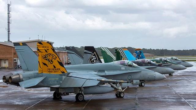 20180427raaf8227810 0004 - Frota de jatos Hornet da RAAF atinge a marca de 400 mil horas de voo