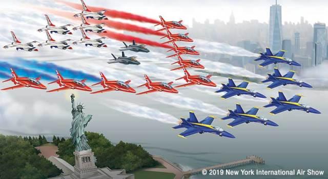 NY19 HudsonRun 820x450 - Nova York verá um histórico sobrevoo com quatro equipes de demonstração sobre o Rio Hudson