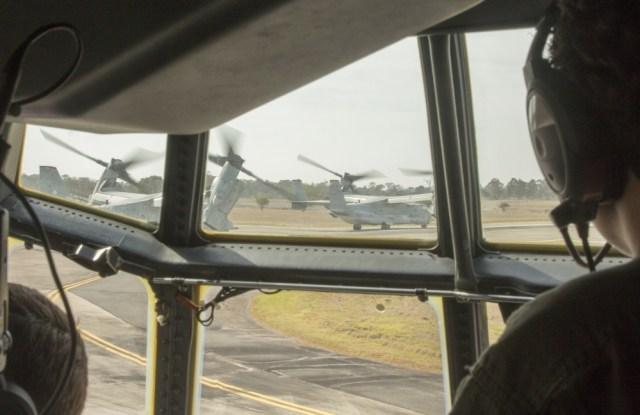 1000w q95 6 - IMAGENS: Fuzileiros Navais dos EUA realizam voo transpacífico com tiltrotores MV-22 Ospreys