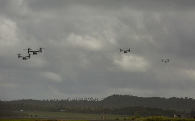 1000w q95 7 - IMAGENS: Fuzileiros Navais dos EUA realizam voo transpacífico com tiltrotores MV-22 Ospreys