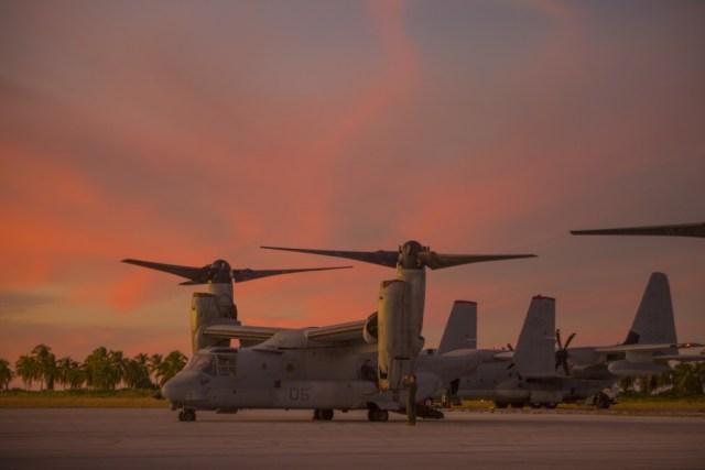 1000w q95 8 - IMAGENS: Fuzileiros Navais dos EUA realizam voo transpacífico com tiltrotores MV-22 Ospreys