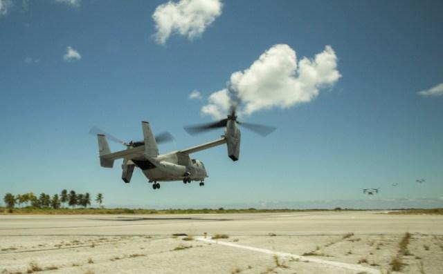 1000w q95 9 - IMAGENS: Fuzileiros Navais dos EUA realizam voo transpacífico com tiltrotores MV-22 Ospreys