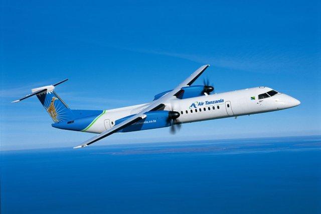 01 airtanzania q400 Bombardier - De Havilland Canada anuncia pedido firme de aeronave Dash 8-400 da Air Tanzania