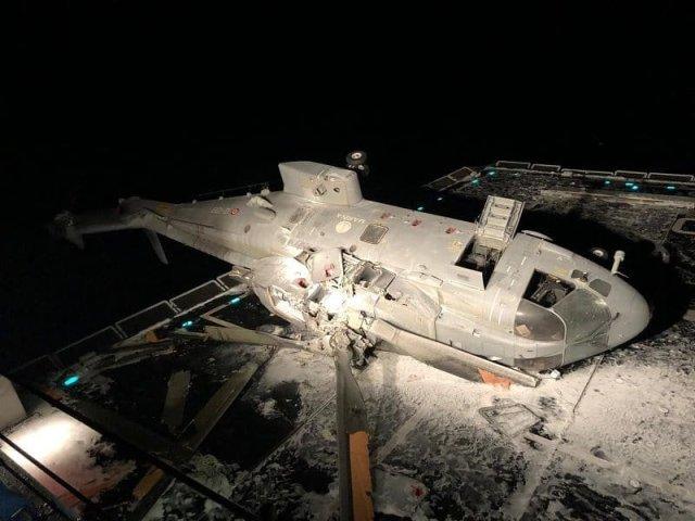 EIuQEq4WkAEkwyQ - Acidente com helicóptero AW101 da Marinha Italiana