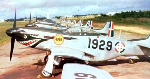 P 51 Republica dominicana - P-51 Mustang operando com a Fuerza Aérea Dominicana