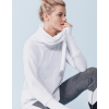 Mineral Wash Cowl Neck Pullover - Front White