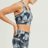 Flight-Mode-Feather-Print-Racerback-Sports-Bra
