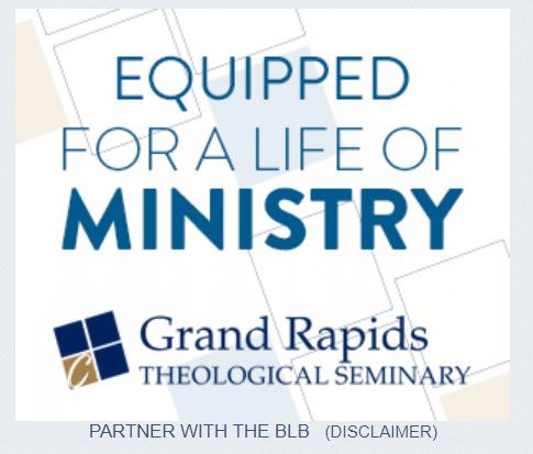 Enrollment marketing banner ads used on websites like Blue Letter Bible.
