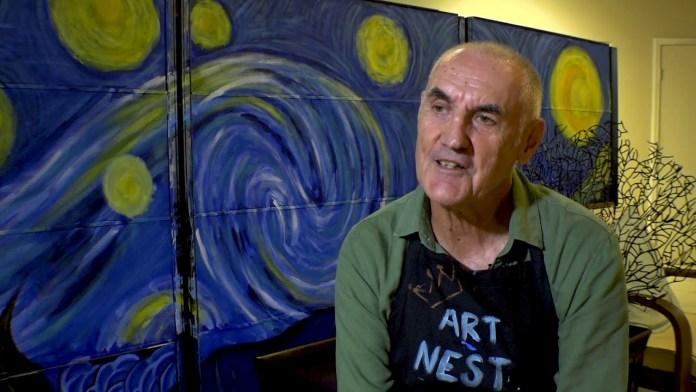 Artist John Broad shares his mad skills at an Art Nest Master Class