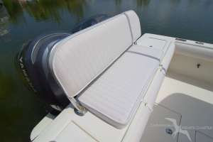 stern seat on our regulator 26fs private charter boat in grand cayman
