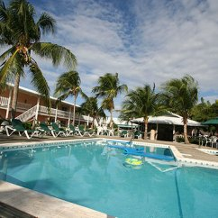 Poolside Lounge Chairs White Wood Chair Little Cayman Beach Resort On Island