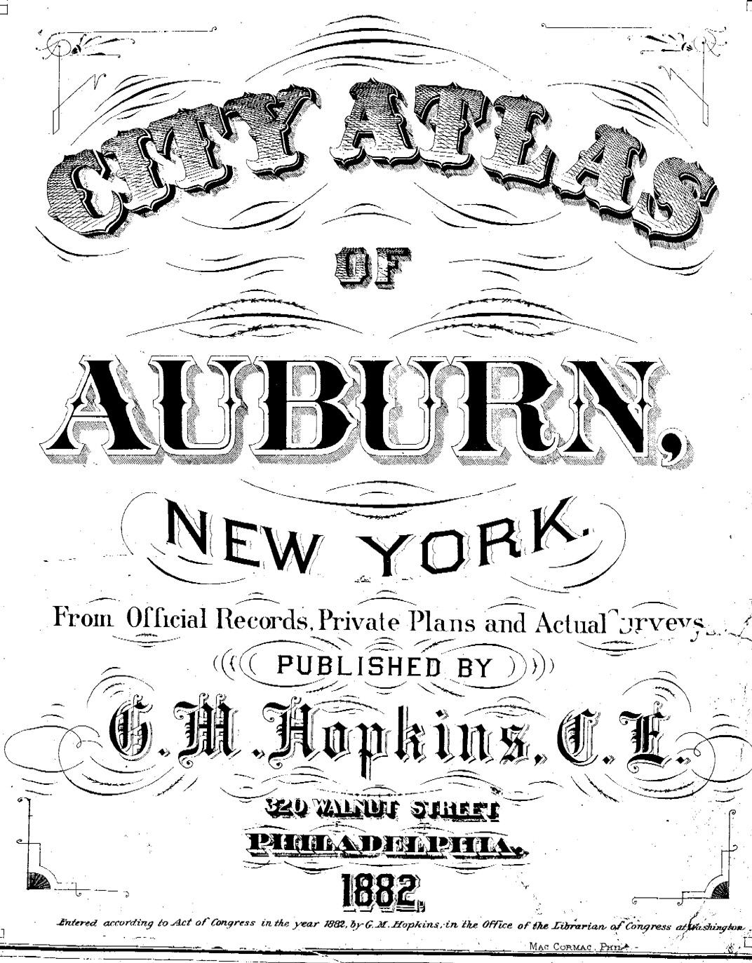 1882 Auburn NY Atlas