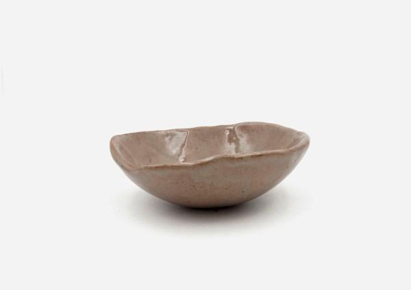Bowl a Mano Liso. Almendra Manchas. (S)