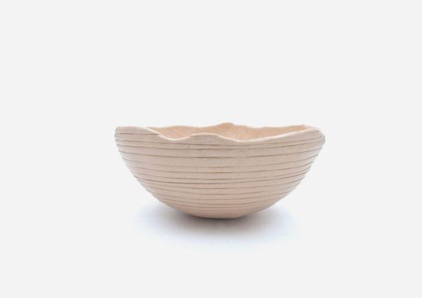 Bowl a Mano Rayas. Crema. (M)