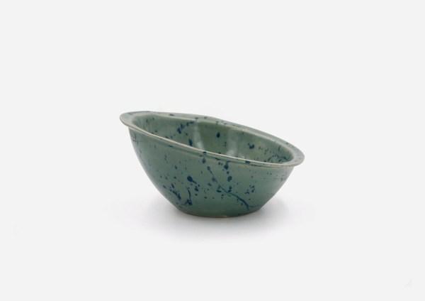 Bowl Inclinado. Musgo Dalmata Azul . (M)