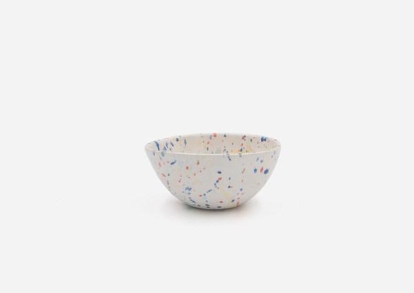 Bowl Con Molde. Blanco  Dalmata Arcoiris. (Xs)