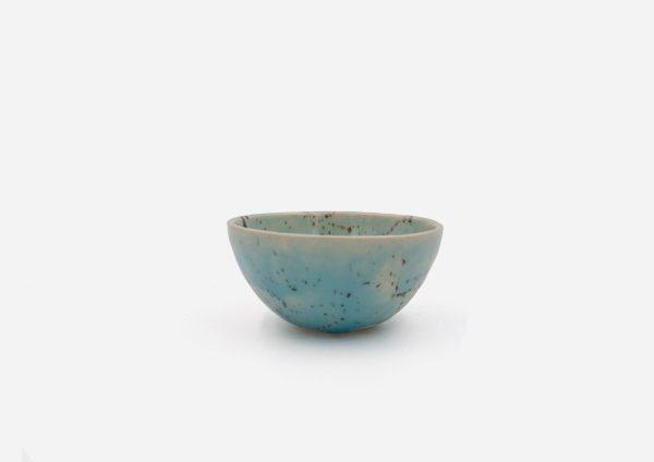 Bowl Con Molde. Azul Celeste Dalmata Negro. (Xs)
