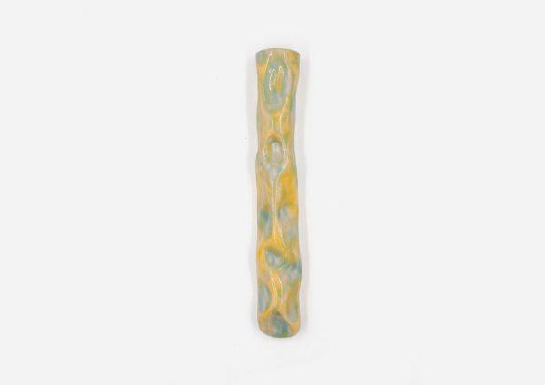Florero Para Colgar Arrugado. Azul|Amarillo. (Único)