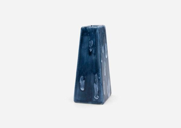 Florero Solitario. Azul Profundo. (S)