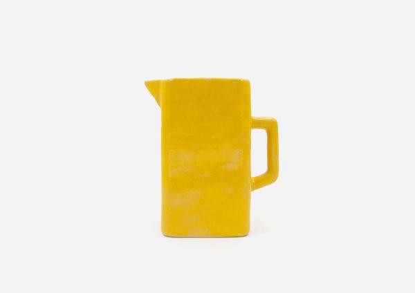 Jarra Cuadrada. Amarillo Brillante. (L)