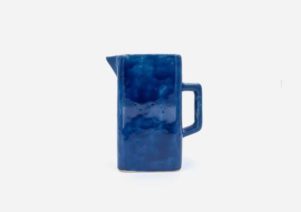 Jarra Cuadrada. Azul Cobalto. (L)