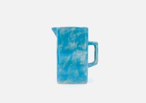 Jarra Cuadrada. Azul Celeste. (L)