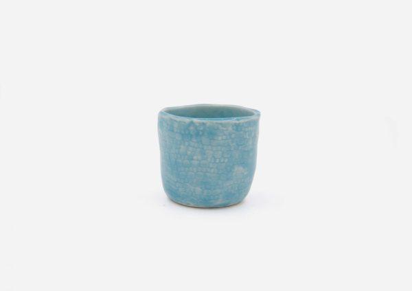Matera Sin Planta Mini. Azul Celeste. (Xs)