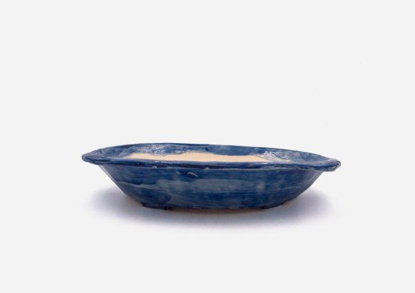 Matera Sin Planta Bandeja. Azul Cobalto. (Único)