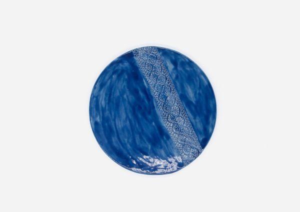 Porta Calientes. Azul Cobalto. (Liso)