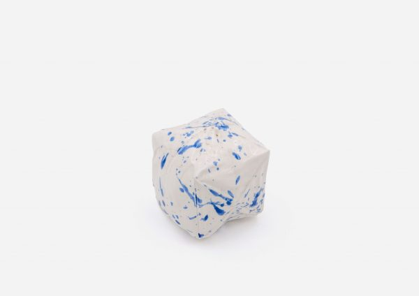Salero Cubo. Blanco Dalmata Azul. (S)