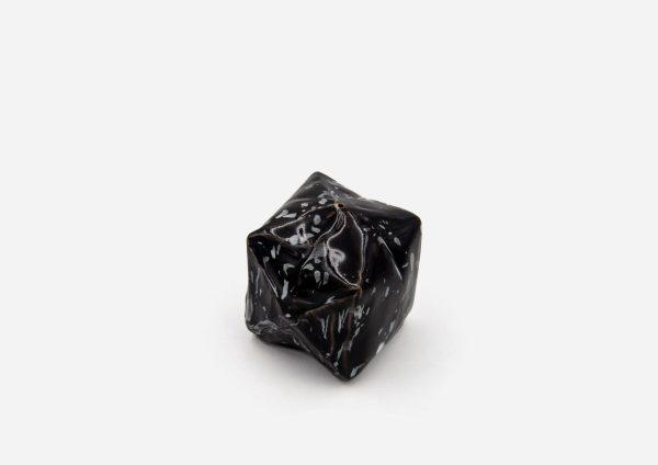 Salero Cubo. Negro Dalmata Blanco. (S)
