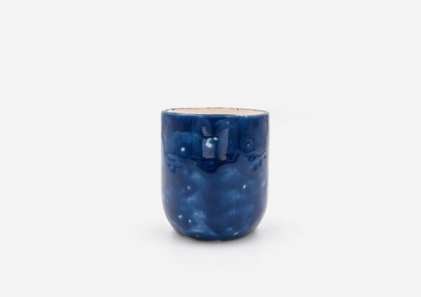 Vaso Tubo. Azul Cobalto. (S)