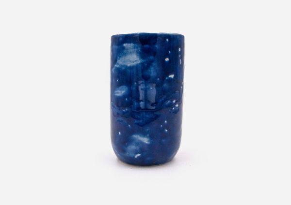 Florero Vaso Tubo. Azul Cobalto. (L)