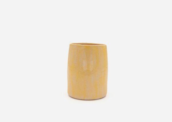 Vaso Delgado. Amarillo Brillante. (S)