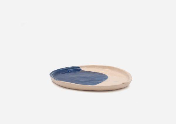 Plato Vajilla Litio. Mancha Azul Cobalto. (S)
